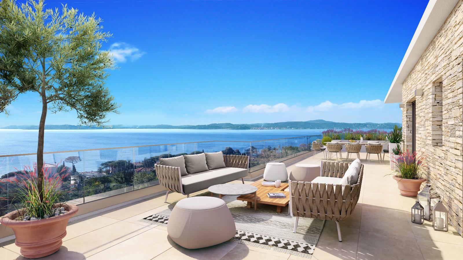 Vema invest immobilier golfe st tropez vente achat for Vue sur terrasse